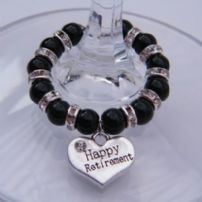 Retirement Wine Glass Charms